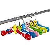 aus Holz ca mit Teddy Motiv mehrfarbig 300 g 6er Set 26 x 12 cm Hess Holzspielzeug 10128444 Kleiderb/ügel f/ür Babykleidung