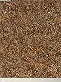 Nadelfilz-Teppich in der Farbe caramel | Nadelvlies-Auslegeware in der Breite 2m x Länge 3,5m | Filz-Bodenbelag als Meterware erhältlich | robust & rutschfest, Beanspruchungsklasse (BK33) | Made in Germany