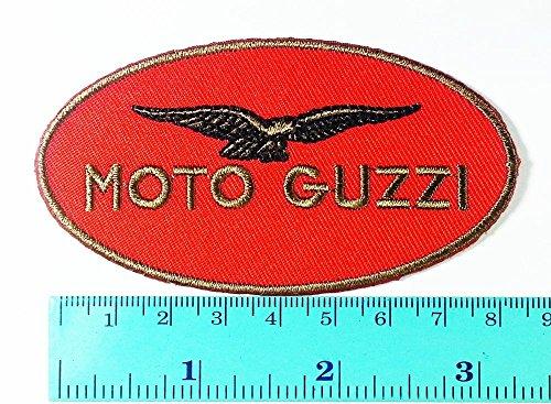 LipaLipaNa Moto Guzzi Patch Motorrad Motorsport Motorräder Biker Racing Logo Patch Nähen Eisen auf Jacke Kappe Weste Abzeichen Zeichen Applique Souvenir Zubehör