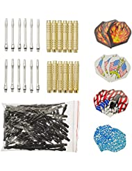 12 McDart Brass Darts +100 Spitzen + 30 Flights