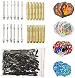 12 McDart Brass Darts +100 Spitzen + 30 Flights - McDart