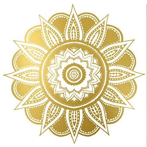 Tattoocrew® Metallic Tattoo Mandala Temporäre Tattoos, 2er Pack (Kostüme Nationalen Parfüm)