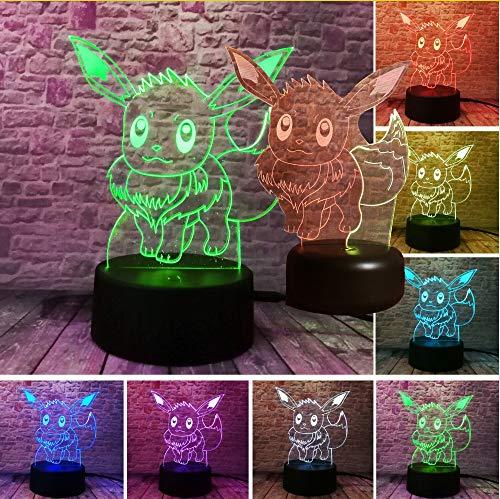 Wuyyii 3D Night Light Action Figur Led Spielzeug 7 Bunte Change Kinder Geschenk Geburtstag Halloween Weihnachten