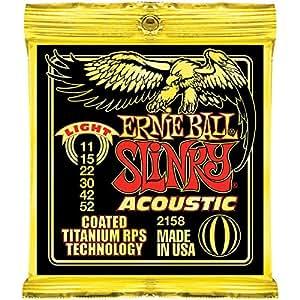 Ernie Ball - Cordes pour les guitares folk, acoustiques et électro acoustiques Titanium Acoustic - Light 11-52 - Traitées renforcées RPS