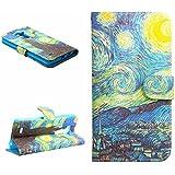 Dokpav® LG G3 Funda,Ultra Slim Delgado Flip PU Cuero Cover Case para LG G3 con Interiores Slip compartimentos para tarjetas-estrella