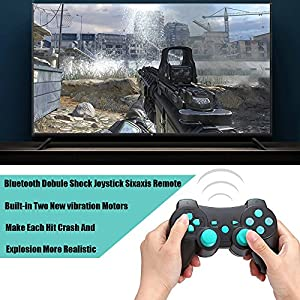 PS3 Controller Wireless Bluetooth Dual Vibration Sixaxis Game Remote for Sony PlayStation 3
