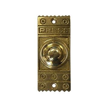 Solid Brass Victorian Vintage Door Bell Push Retro