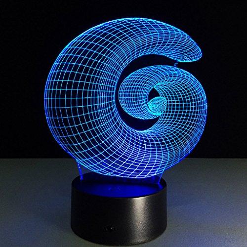 CLOCKS GJY 3D Nachtlicht Visuelle Beleuchtung 7 Farbwechsel USB Touch Tastatur & Smart Remote Schreibtischlampe Schönes Geschenk Wohnkultur - Smart-energie-handbuch