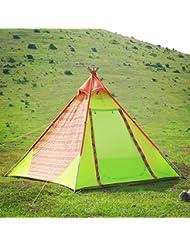 Wolfwise Tienda De Campaña Familiar Para 4 Personas,Para Playa,Al Aire Libre,Jardín,Estilo de los indios Tipi,120×120×180cm,Verde