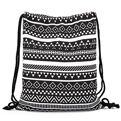 TianranRT , Damen Rucksackhandtasche Black Geometric