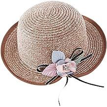 544a9092bcf93 Da. WA verano Otoño moda niñas sombrero de paja playa sol sombrero ...