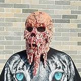 Zombie Monster Dämon Höllenbestie Horror Maske verbanntes Gesicht aus sehr hochwertigen Latex Material mit Öffnungen an Augen Halloween Karneval Fasching Kostüm Verkleidung für Erwachsene Männer und Frauen Damen Herren gruselig Grusel -
