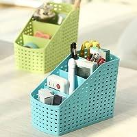 FLYNGO 4 Grid Multipurpose Desk Organizer Stationary Storage Stand Cosmetic Basket Makeup Holder Box for Home, Office…