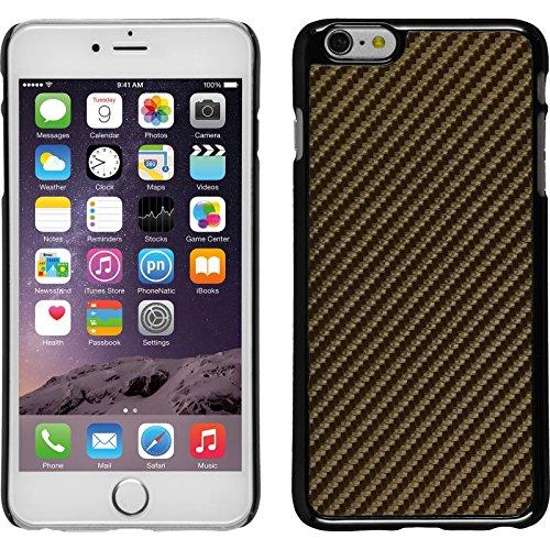 PhoneNatic Case für Apple iPhone 6 Plus / 6s Plus Hülle silber Carbonoptik Hard-case für iPhone 6 Plus / 6s Plus + 2 Schutzfolien Bronze