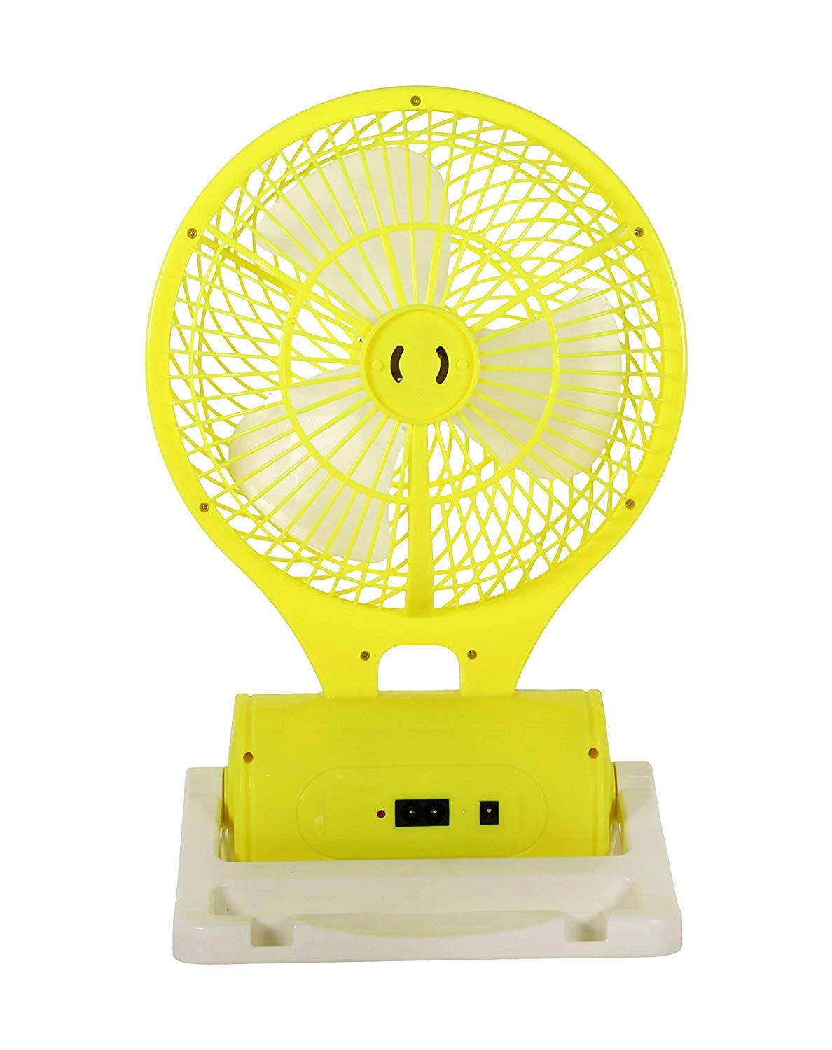 MICMAC Powerful Rechargeable Table Fan with 21 LED Light