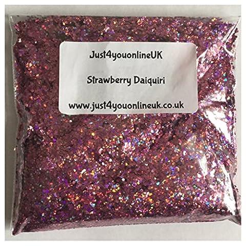 mixte grosses paillettes pour nail art 10g Sac de fraise Daquiri Cocktail coloré Paillettes roses rouges