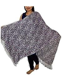Sanvitta's Wild Leopard Print Viscose Satin Stole Shawl Wrap Dupatta