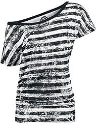 R.E.D. by EMP Camiseta Mujer a Rayas Camiseta Mujer negro-blanco