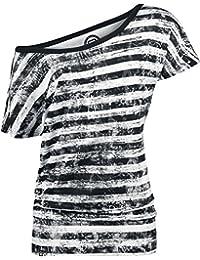 MPE R.E.D. by EMP Camiseta Mujer a Rayas Camiseta Mujer negro-blanco