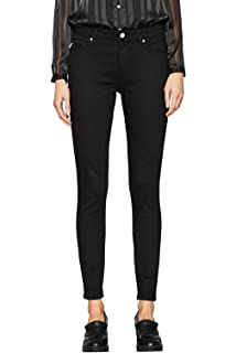 ESPRIT Collection Damen 087EO1B002 Skinny Jeans, Schwarz
