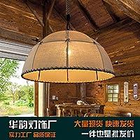 ZQ@QX Lampadari decorativi illuminazione domestica Lampadario lino semplicità rurale bar lampadario di abbigliamento retrò negozio