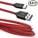 USB C cavo di ricarica per Honor note 8, Higoo 2m [2m] Honor caricabatterie cavo cavi USB di ricarica cavo caricatore reversibile in nylon cavo trasferimento dati USB cavo per Honor 88S V8V9Magic