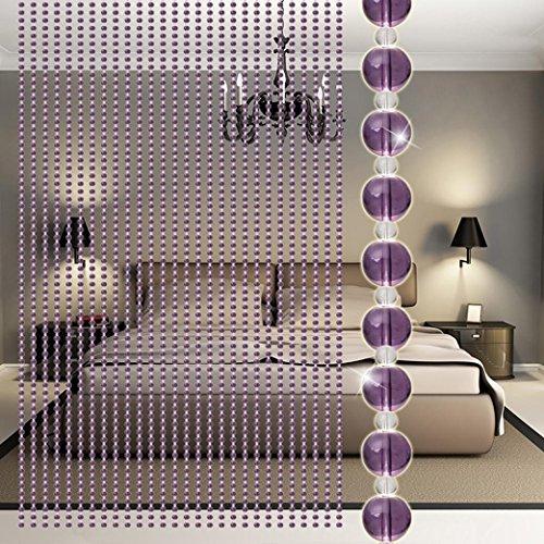 MRULIC Crystal ball vorhang Kristall Glasperle Vorhang Luxus Wohnzimmer Schlafzimmer Fenster Tür Hochzeit Dekor (G)