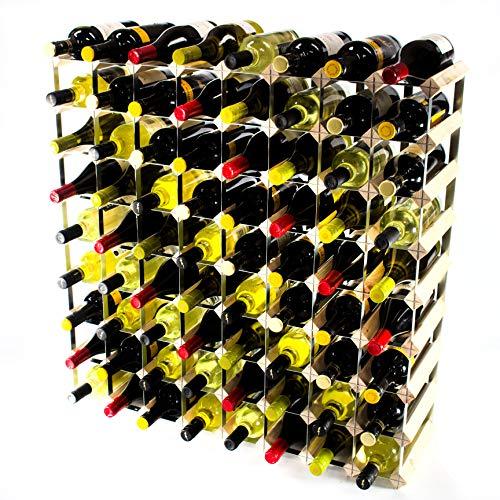Klassische 72 Flasche Kiefernholz und verzinktem Metall Weinregal Selbstmontage