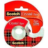 Scotch Crystal 6-1925 D Rouleau de ruban 19 mm x 25 m Transparent