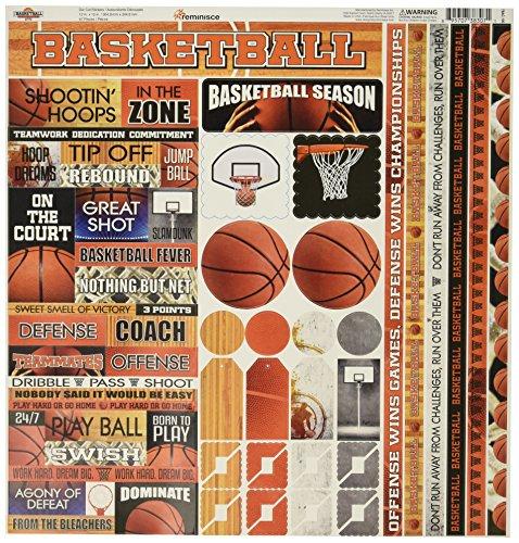 Unbekannt Basketball Karton Aufkleber 12Zoll x 12Zoll -