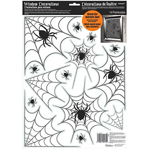 Spider Web Fensterdekoration, 43 x 30,4 cm ()