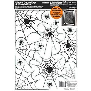 Amscan-248600vinilo araña Web ventana decoración, 43x 30,4cm