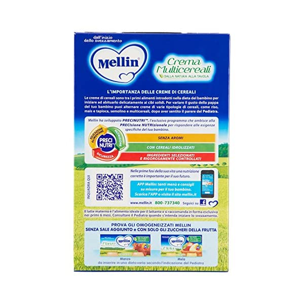 Mellin Crema Multicereali, Indicato per Infanti dal 4 Mese - 200 gr 3 spesavip