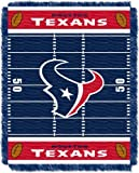 NFL Houston Texans Field Woven Jacquard Baby Throw Blanket, 36x46-Inch