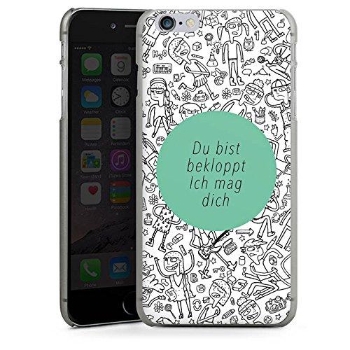 Apple iPhone X Silikon Hülle Case Schutzhülle Verrückt Crazy Sprüche Hard Case anthrazit-klar