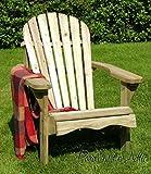 Murcia Solid Wood Outdoor Adirondack Chair Garden Patio Wooden Rocker Rocking Furniture (Chair) - 10 Year warranty against rot