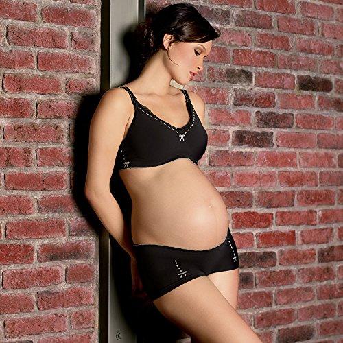 Cache Coeur Illusion, Culotte de Maternité Femme Noir (Black)
