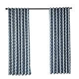 topxingch Rideaux occultants pour fenêtre de Salon, Chambre à Coucher Motif géométrique Bleu