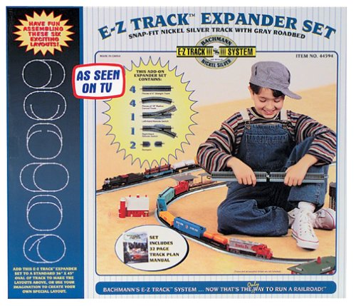 Bachmann trains Snap-Fit E-Z Track Nickel argent mise en page d'extension de