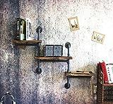Cdbl Wand Bücherregal Wand-Dekoration-Zahnstange Loft industrieller Wind-Retro- Eisen-Eisen-Rohr-Ständer Regal-Regal-bildenes Altes Festes Hölzernes Regal-Wand-Einfassung Regal