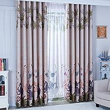 2er Set Romantische Gardinen Vintage Creme Vorhänge Klassische Blickdicht  Vorhänge Für Schlafzimmer Wohnzimmer (160*140 ...