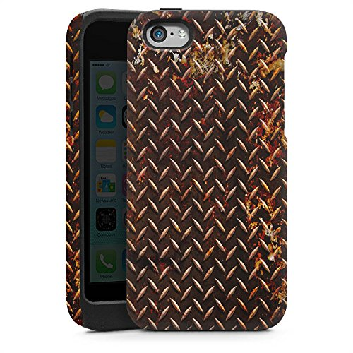 Apple iPhone 5s Housse étui coque protection Rouille Look Métal marron Cas Tough brillant