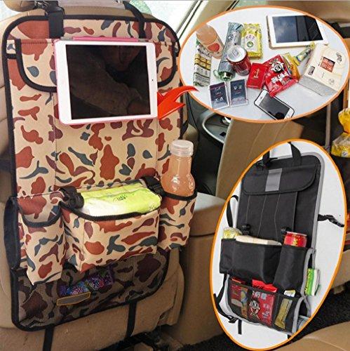 Preisvergleich Produktbild Geräumig Auto Rücksitz Organizer Autositztasche Mit 9 Fächer iPad Halterung wasserdichter Rückenlehnenschutz Rücksitztasche Utensilientasche Universal CAMOUFLAGE
