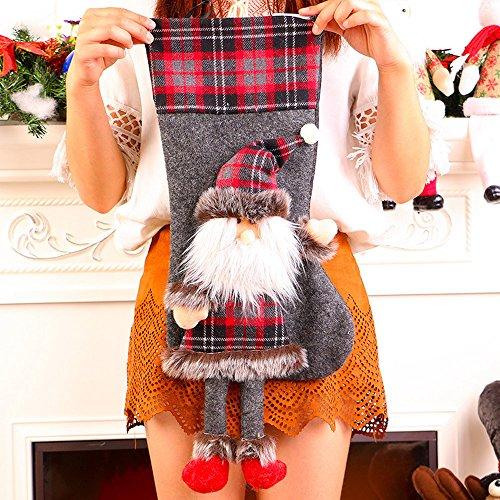 (Amphia Weihnachten GeschenSchmuckbeutel - Plüsch-Weihnachtsbaum hängend Geschenk Süßigkeiten Socken mit Beinen Dekoration(Größe:50 * 25cm))