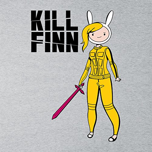 Kill Finn Adventure Time Kill Bill Women's Vest Heather Grey