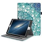Fintie iPad 9.7 Zoll 2018 2017 / iPad Air 2 / iPad Air Hülle - Multi-Winkel Betrachtung Folio Stand Schutzhülle Case Cover mit Dokumentschlitze, Auto Wake / Sleep für Apple iPad 9,7'' 2018 / 2017, iPad Air 1 / 2, smaragdblau