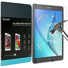 Samsung Galaxy Tab A Protector de Pantalla, Rusee Samsung Galaxy Tab A 9.7 Pulgadas (SM-T550 / SM-T551 / SM-T555) Vidrio Templado [Alta Definición] [Sin Burbujas]