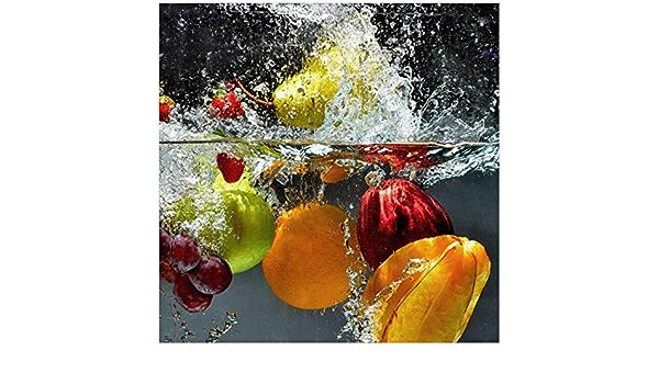 Gr/ö/ße: 55 x 55 cm Glasplatte Motiv: Rot Wallario M/öbeldesign Schutzplatte mit Motiv geeignet f/ür IKEA Lack Tisch