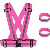 Apace Vision Reflektorweste 2er Pack Premium Sicherheitsweste Für Laufen Joggen Walking Fahrrad Fahren Und Mehr Sport Freizeit