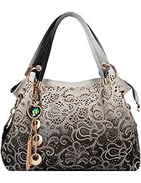 Bolsos de Mujer,Coofit Vintage Bolso de PU Cuero Bolso Tote Bag